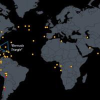 A világ nyom nélkül eltűnt repülőgépei egy térképen