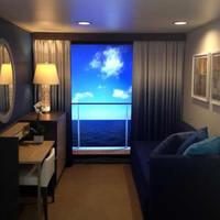 Virtuális erkélyek az óceánjárók belső kabinjaiban