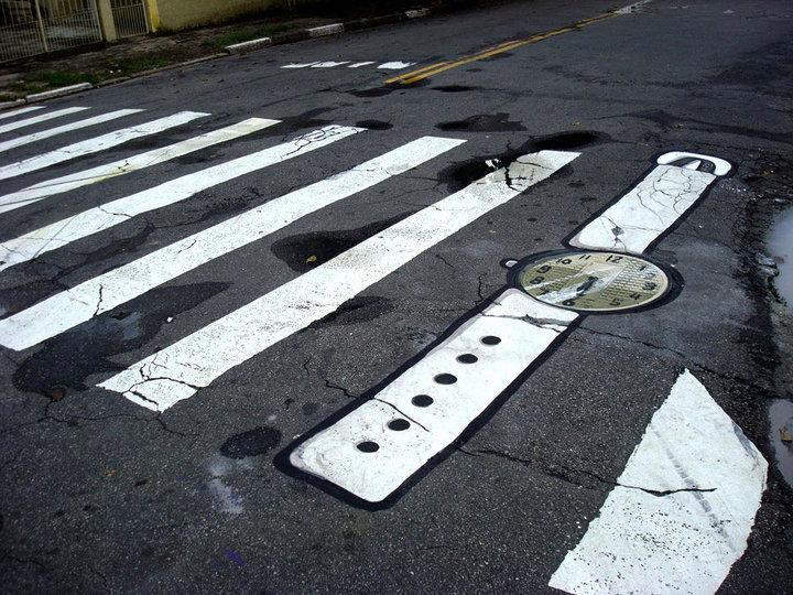 Zebra+csatornafedél=karóra.