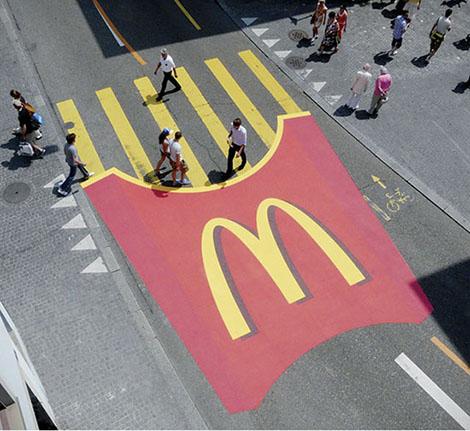 Ügyes McDonalds reklám.