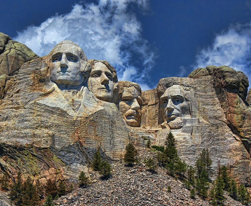 A Rushmore hegy óriásarcai