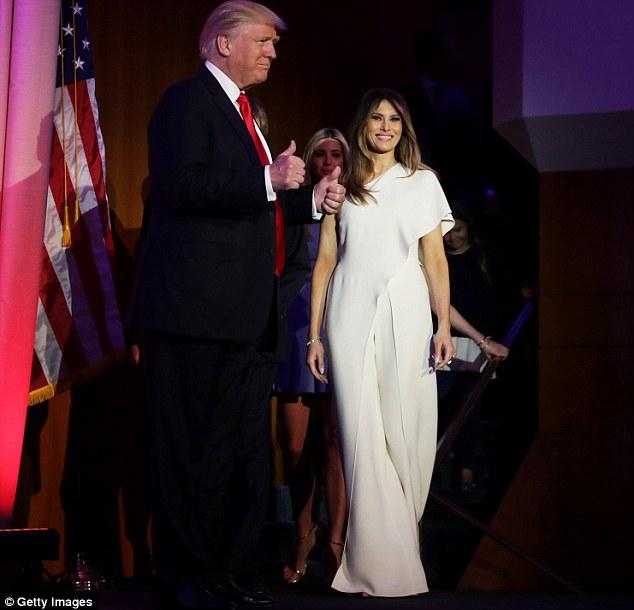 Melania Trump Ralph Larent visel<br />forrás: dailymail.co.uk
