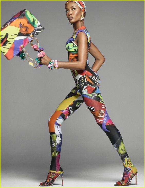 Naomi Campbell Versace kampányban, forrás: Pinterest