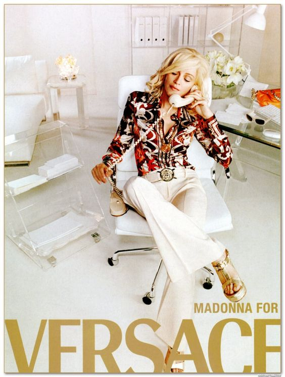 Madonna Versace kampányarcként, forrás: Pinterest