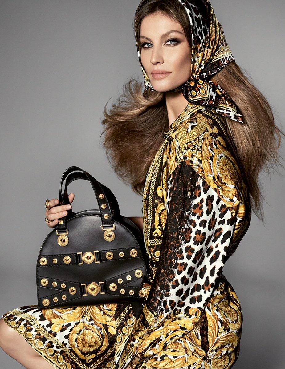 Gisele Bündchen szintén az előző szezon Versace kampányban: forrás: vogue.com