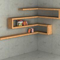 Sarokpolc bútorlapból vagy fa elemekből