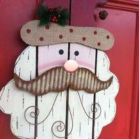 Karácsonyi ajtó dekoráció