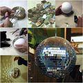 Diszkógömb használt CD-ből