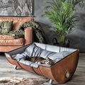 Kisállat ágy fém hordóból