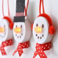 Teamécsesből karácsonyi dekoráció