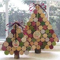 Karácsonyi dekoráció parafadugóból