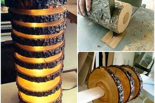Különleges lámpa fából