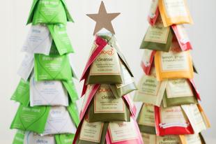 Karácsonyi ajándék a munkahelyre - Tea fenyőfa