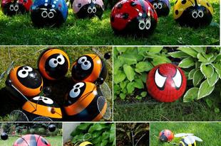 Kerti dekoráció labdákból 1.