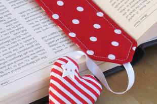 Könyvjelzők DIY - textilből, szalagból