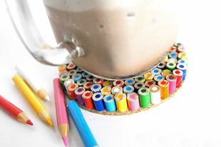 Egyedi poháralátét ceruzából
