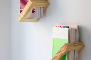 Minimál design könyvespolc