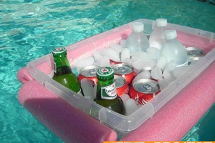 Úsztatható italhűtő