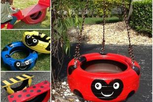 Gyerekjátékok használt gumiból