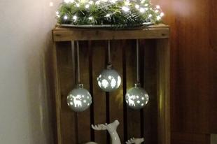 Karácsonyi hangulat egy faládában