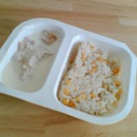 Tejszínes sajtos-sonkás csirkemell kukoricás jázmin rizzsel (FoodExpress)