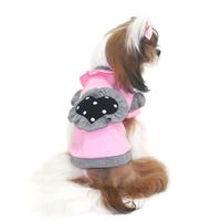 Termékbemutató - Rózsaszín szívecskés kutyapulóver