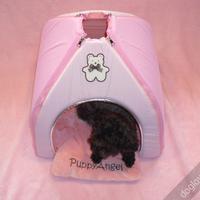 Termékbemutató - Rózsaszín macis kutyasátor