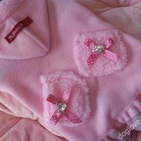 Termékbemutató - Meleg zsebes rózsaszín kutyakabát