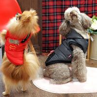 ParisDog - Hush kutyakabát piros és szürke