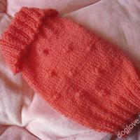Termékbemutató - Rózsaszín bogyós kutyapulóver