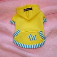 Termékbemutató - Sárga kenguruzsebes pulóver