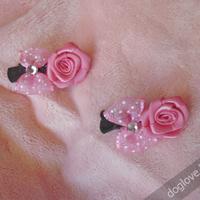 Termékbemutató - Rózsás masnis rózsaszín kutyahajcsatt