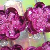 Termékbemutató - Flitteres virág csattok