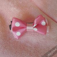 Termékbemutató - Kétrétegű rózsaszín pöttyös masnik