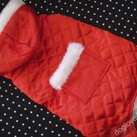 Termékbemutató - Piros téli kutyaoverall