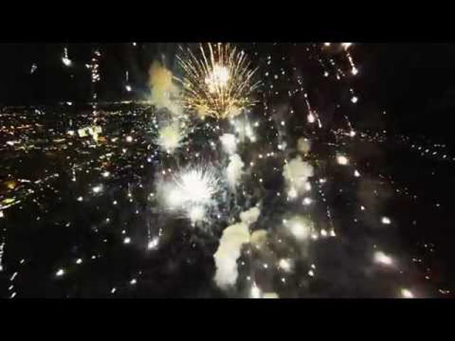 DrónVideó: tűzijáték