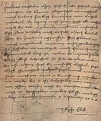 Thurzó Elek levele