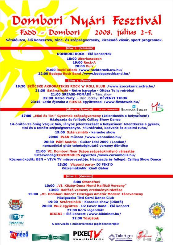2009. évi Dombori Nyári Fesztivál plakátja