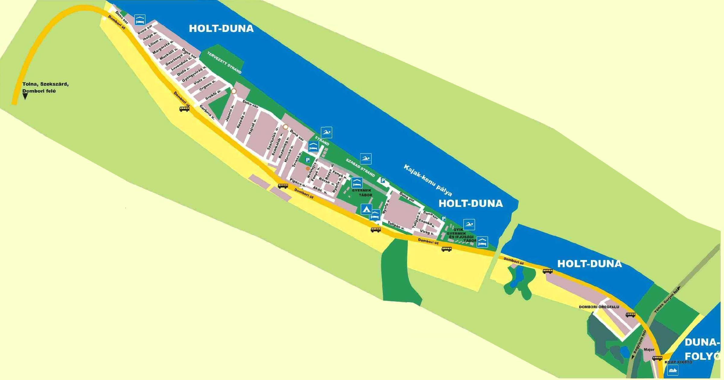 Dombori részletes térképe