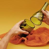 Italos üvegből gyertyatartó