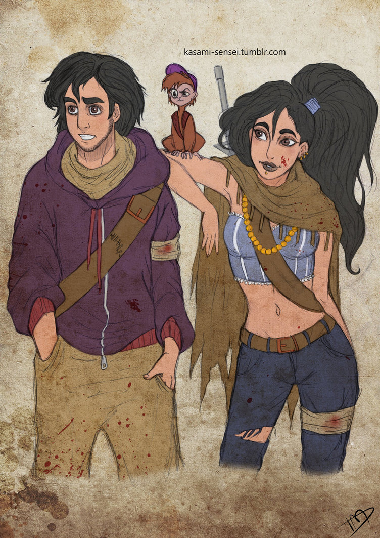 the_walking_disney___aladin__jasmine_and_abu_by_kasami_sensei-d7hn5fe.jpg