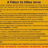 """A Fidesz 10+1 """"titkos tervéből"""" 8 igaz lehet!"""