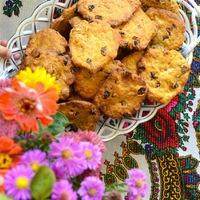 DRKONYHART: MAZSOLÁS-CSOKIS SÜTŐTÖKÖS KEKSZ (Cookie with pumpkin, raisin, chocolate)