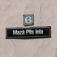 Régi emlékek: utcanév Rigából