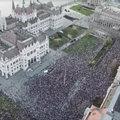 Drónfelvételek a Kossuth téri tüntetésről
