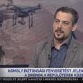 Drónfenyegetéssel riogatnak a tévében