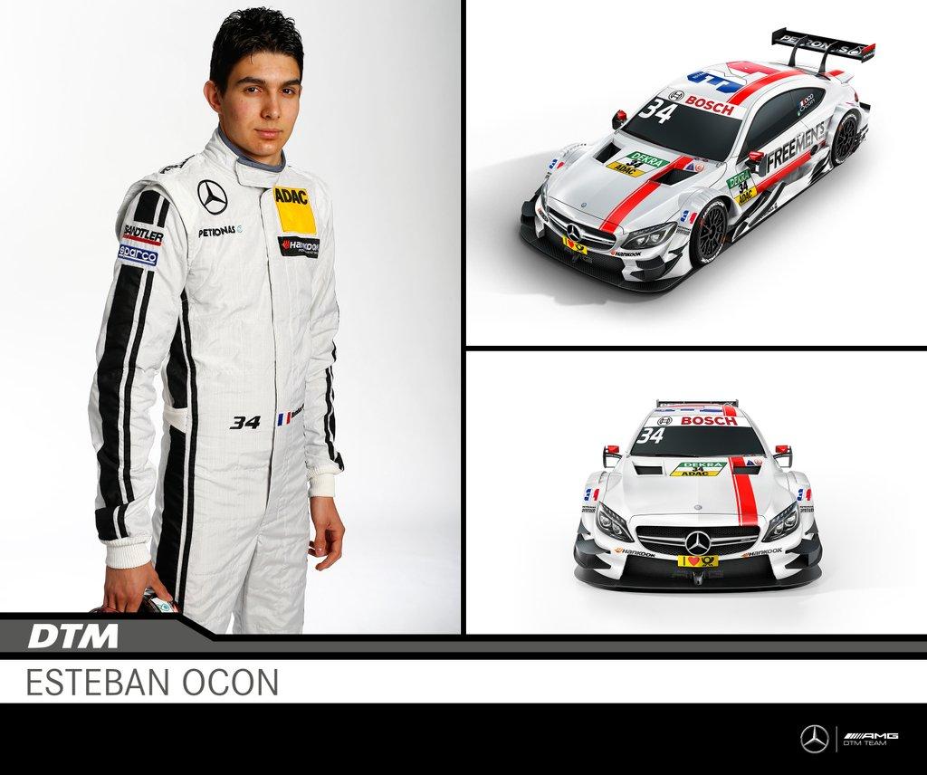 #34 Esteban Ocon EURONICS/ FREE MEN'S WORLD Mercedes-AMG
