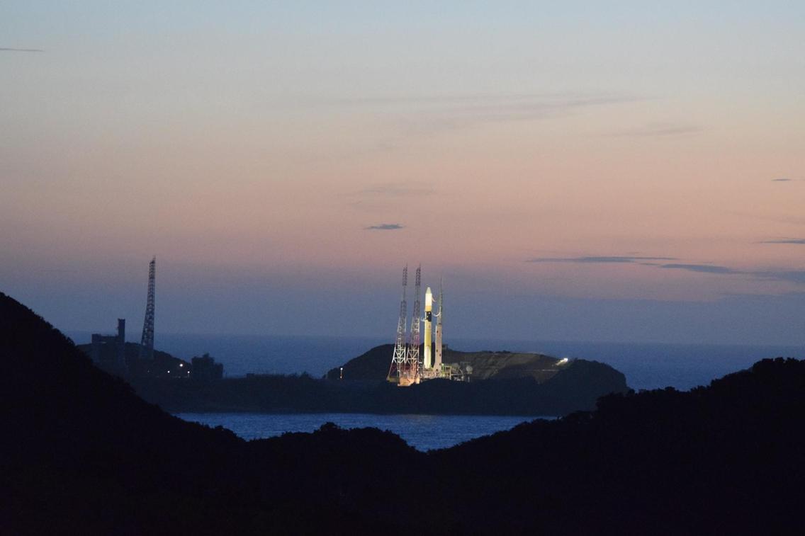 Távoli kép az űrhajóról a kilövés előtt