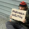 Hajléktalanok az utcán a mínuszokban