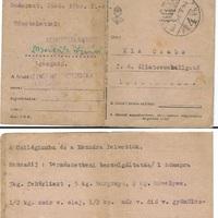 tábori postai levelezőlap 1946-ból, civil, polgári használatban
